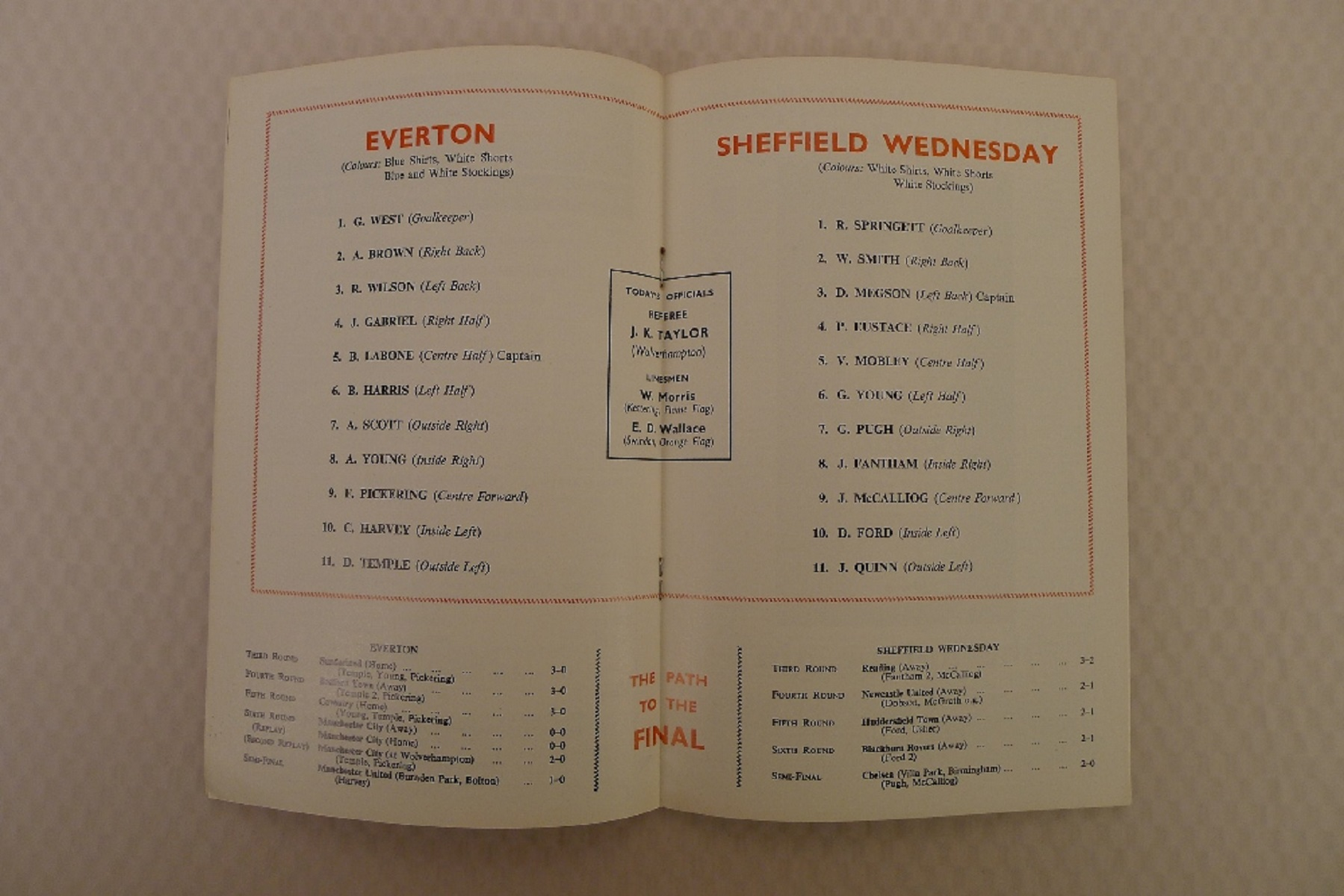 FA Cup football programmes 1966 1 x Final and 2 x Semi Final football programmes comprising Final - Image 3 of 4