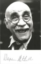 Warren Mitchell signed 6x4 black and white photo. Good condition. All autographs come with a