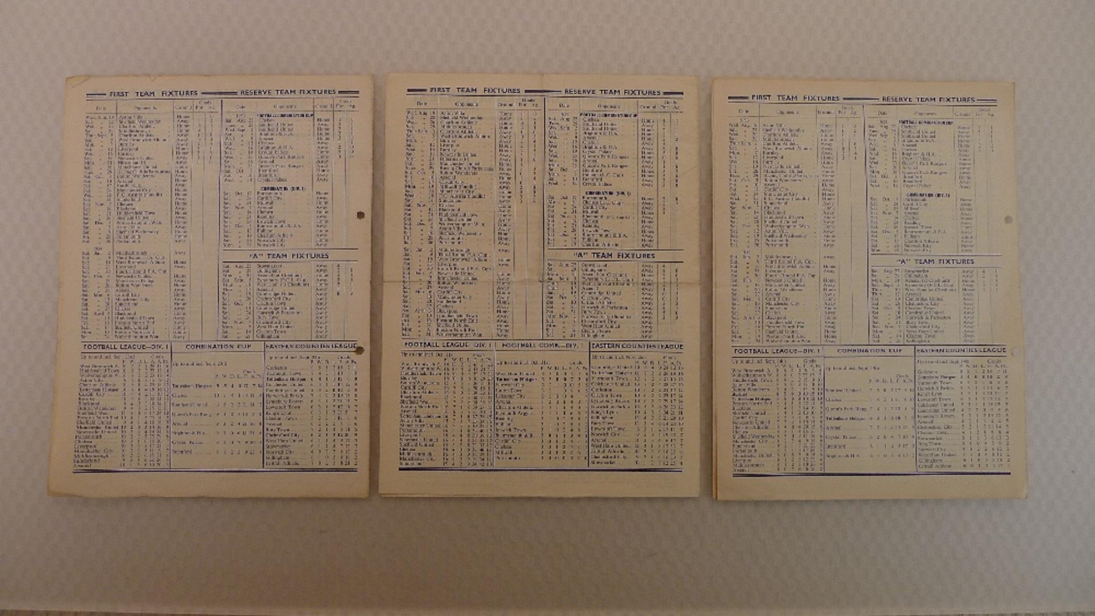 Vintage Football Programmes. 3 x Tottenham Hotspur 1953 football programmes comprising v Burnley - Image 5 of 5
