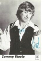 Tommy Steele Singer Signed Promo Pye Photo. Good condition. All autographs come with a Certificate