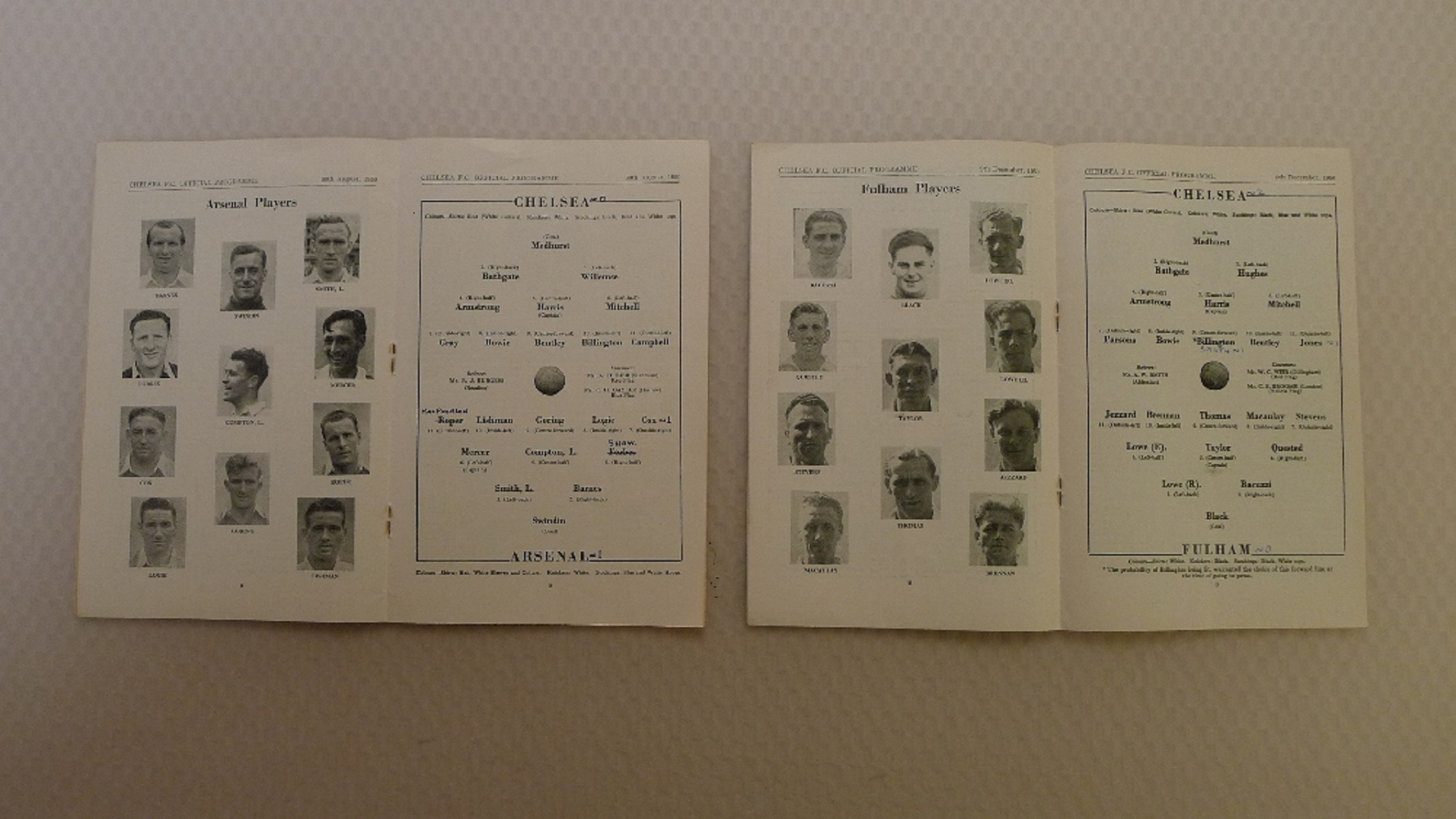 Vintage Football Programmes. 2 x Chelsea 1950 / 51 Season football programmes comprising v Arsenal - Image 2 of 3