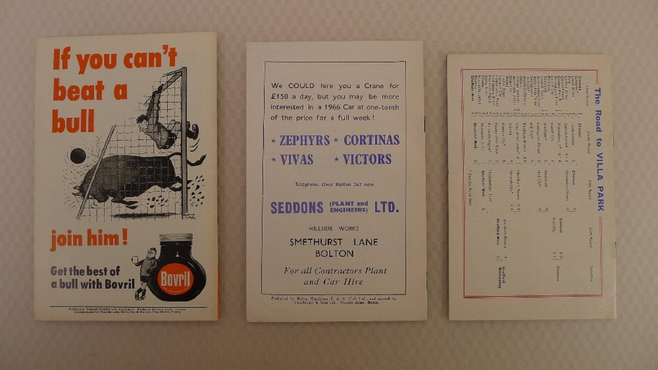 FA Cup football programmes 1966 1 x Final and 2 x Semi Final football programmes comprising Final - Image 2 of 4