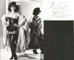 Joan Collins Actress Signed Card With Photo. Good condition. All autographs come with a