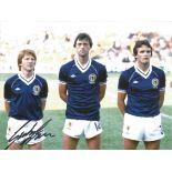 Football Autographed Scotland 8 X 6 Photos Col, Depicting Former International Gordon Strachan,
