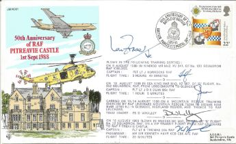 RAF Battle Of Britain First Day Cover Signed By 5 Ian Fraser, J. Horrocks, J.D.E. Dean, D. Whalley &