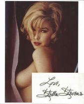 Stella Stevens signed card with 10x8 colour photo. Good condition. All autographs come with a