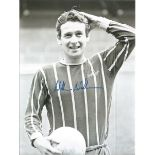 Football Autographed Crystal Palace 8 X 6 Photos Col & B/W, Depicting Three Players Striking Poses