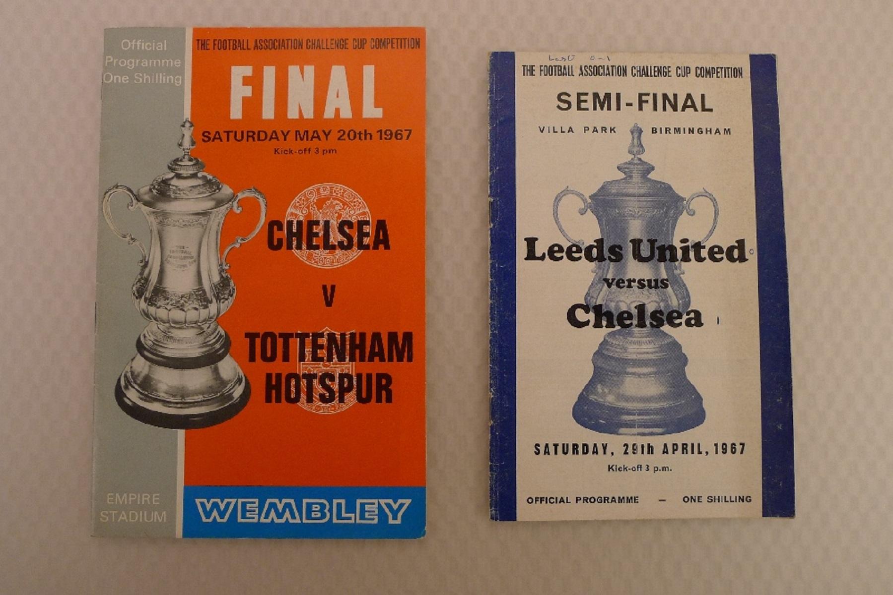 FA Cup football programmes 1967 1 x Final and 1 x Semi Final football programmes comprising Final