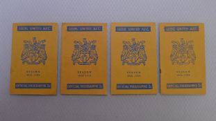 Vintage Football Programmes. 4 x Leeds United 1958 / 59 Season football programmes comprising v