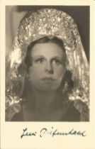 Leni Riefenstahl signed 6x4 sepia photo. Good condition. All autographs come with a Certificate of