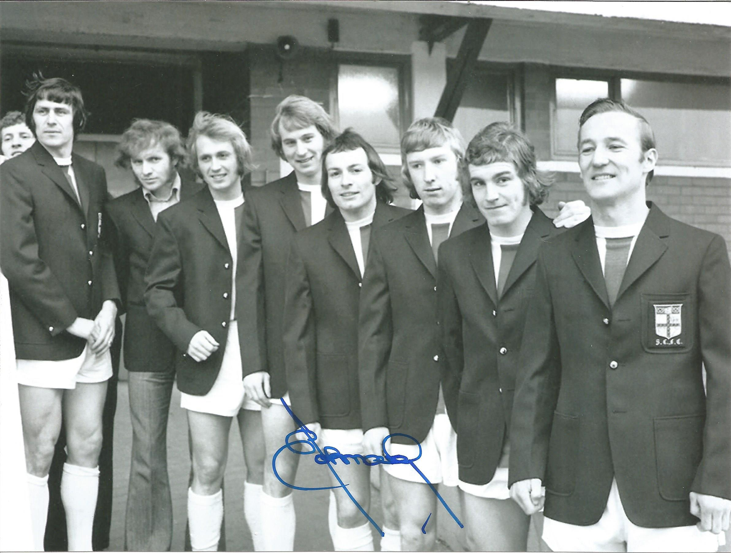 Football Autographed Stoke City 8 X 6 Photos Col & B/W, Depicting Former Player John Marsh In 3 - Image 2 of 3