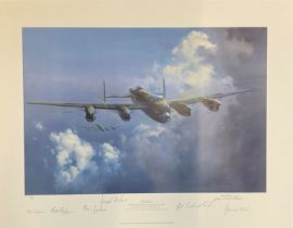 World War II 31x23 print titled Lancaster limited edition 794/850 signed in pencil by the artist