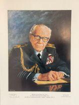 World War II 16X12 colour print Marshal of the Royal Air Force Sir Arthur Harris Bt, GCB, OBE AFC