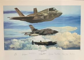 RAF print 19x25 titled Generations of Excellence by the artist Philip E West limited edition