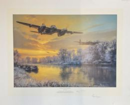 World War II 30x24 print titled Return of the Pathfinders by the artist Anthony Saunders signed by