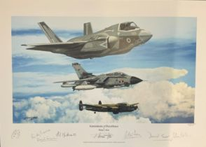 RAF print 18x12 titled Generations of Excellence by the artist Philip E West limited edition