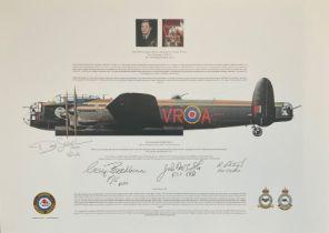 World War II 12X17 Andrew Charles Mynarski commemorative Lancaster B MLX FM213 print signed in