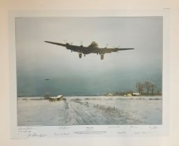 World War II 31x24 print titled Winter Ops publishers proof 31/40 signed in pencil by the artist