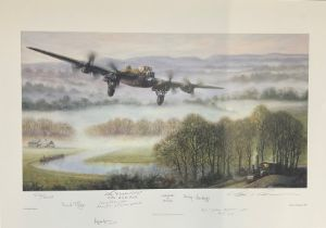 """World War II 18X25 print titled """"Lancaster"""" limited edition 580/850 signed in pencil by the artist"""