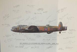 World War II 22x15 Avro Lancaster B. 1 of No 467 Squadron Royal Australian Air Force Europe 1943-