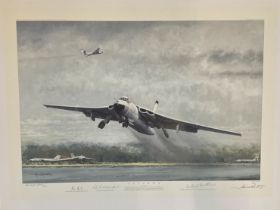 World War II 27x20 colour print titled Valiant limited RAF proof 2/25 signed in pencil by the artist