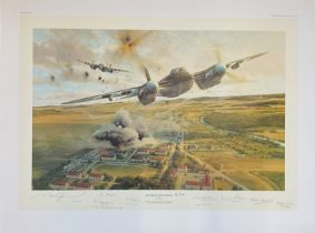 World War II 32x24 print titled Rangers on the Rampage limited edition 249/400 RAF signed in