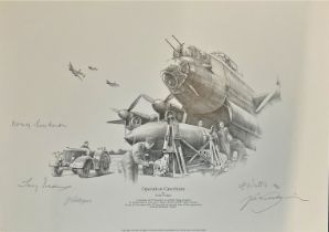 World War II 16x12 print titled Operation Catechism limited edition 144/150 signed in pencil by
