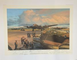 World War II 32x24 print titled Band of Brothers Royal Air Force Bomber Command 1939-1945 limited