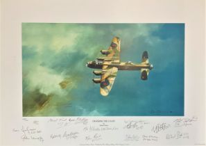 World War II 12x18 print titled Crossing the Coast limited edition 149/200 signed by 14 Bomber