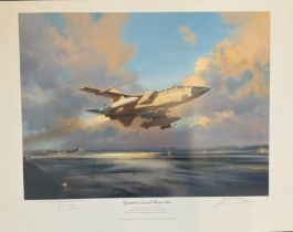 RAF print 22x29 print titled Operation Desert Storm 1991 signed in pencil by the artist Frank