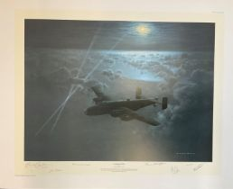 World War II 26X31 print titled Leading the Way Publishers Proof 5/75 signed in pencil by the artist