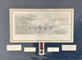 World War II 14X19 matted print titled Last Lancaster Home Victoria Cross edition limited edition