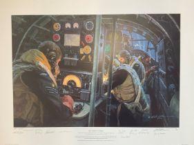 World War II 31x23 print titled We Guide to Strike limited edition studio presentation copy 2/20