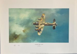 World War II 12x18 print titled Crossing the Coast limited edition 30/65 initialled by the artist