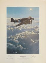 World War II 18X13 print titled Moonlighting by Robert Taylor limited edition 249/400 signed in