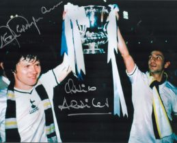 Football. Tottenham Hotspurs FC Steve Perryman and Ossie Ardiles Signed 16x12 colour photo. Photo