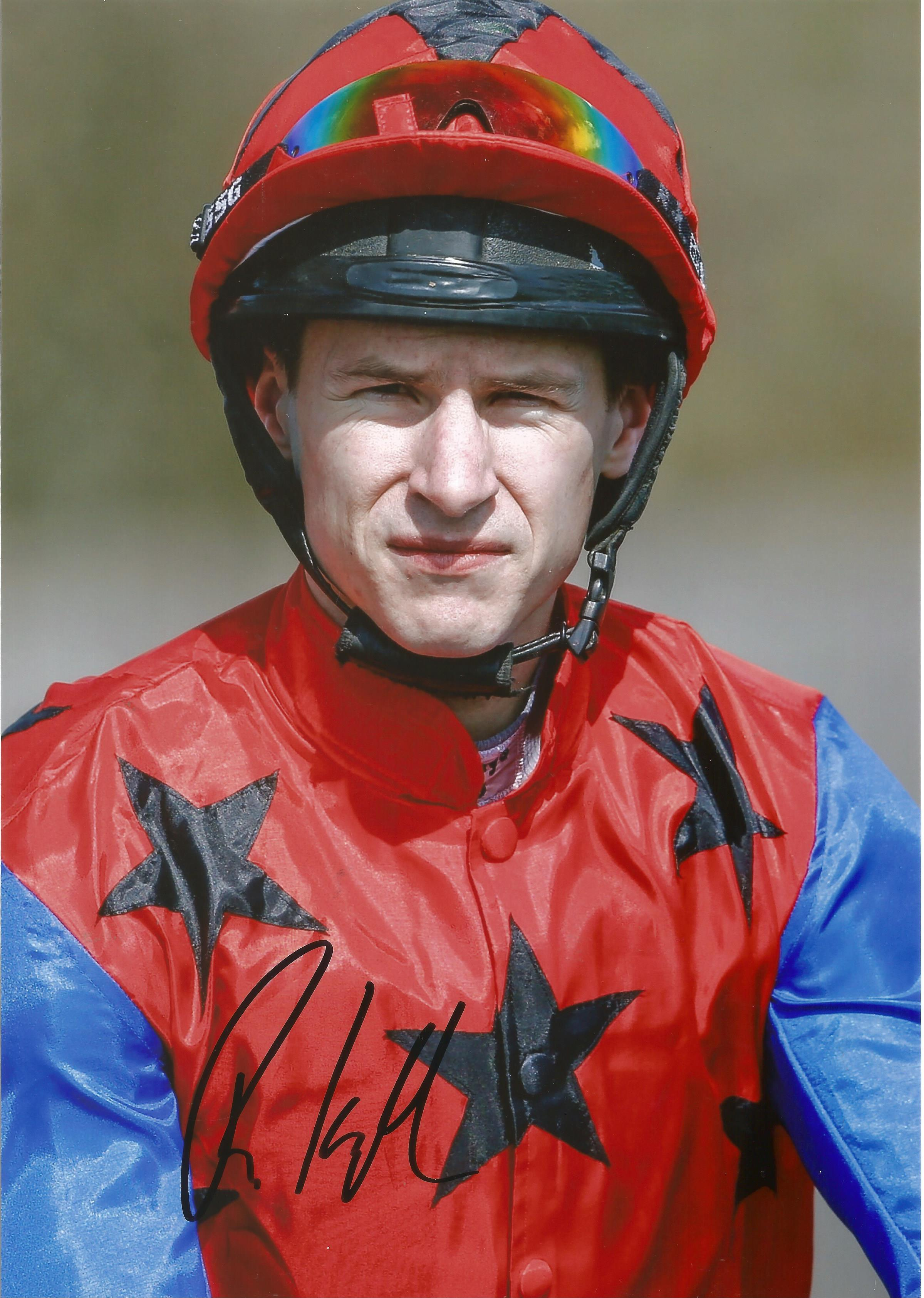Richard Kingscote Signed Horse Racing Jockey 8x12 Photo. Good condition. All autographs come with