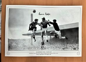 Football, Ronnie Cope signed 12x18 black and white photograph pictured during the 1960s,