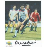 Football. Alvin Martin Signed 10x8 Autographed Editions page. Bio description on the rear. Photo