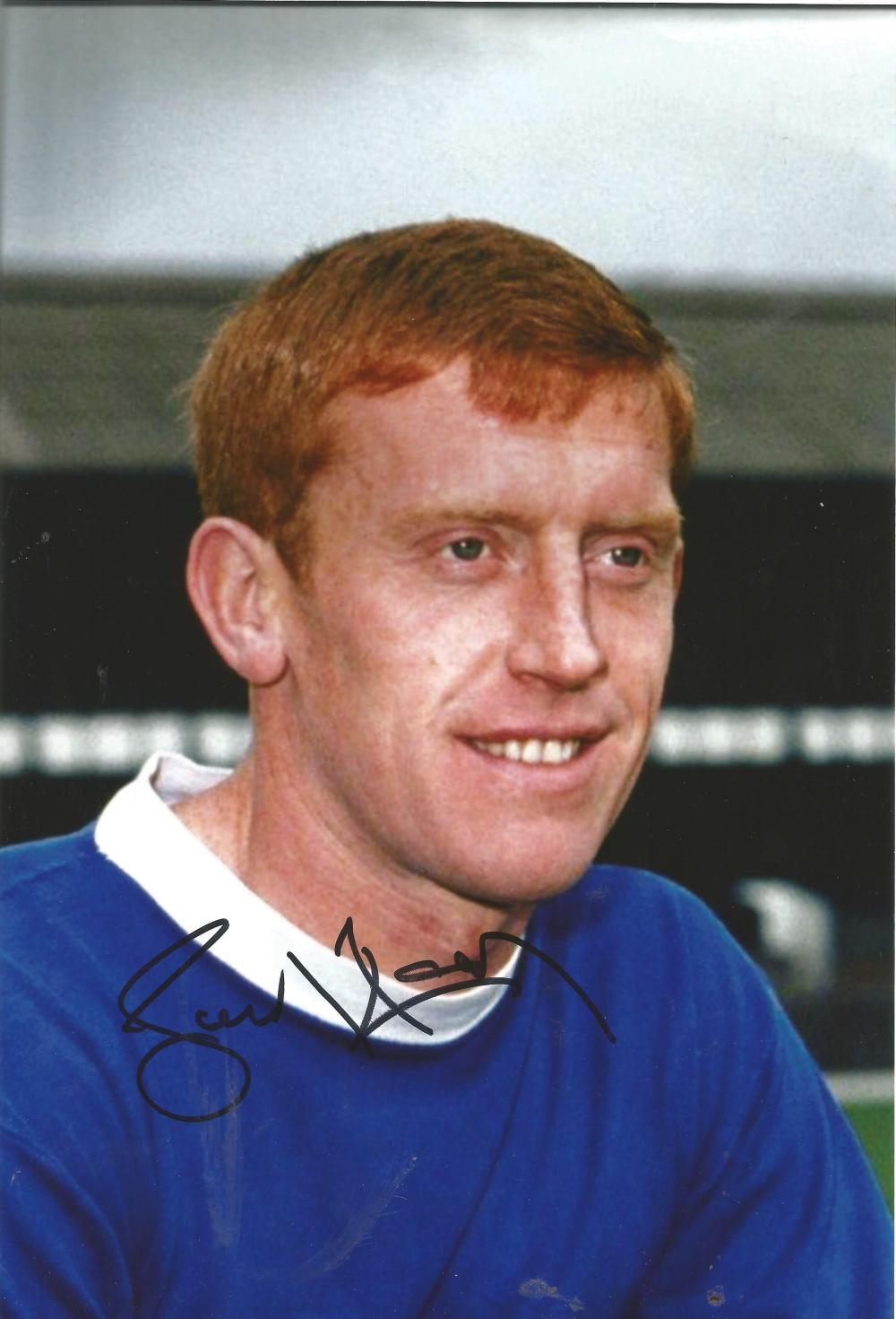 Football Tony Kay signed 12x8 colour photo pictured during his playing days with Everton. Good
