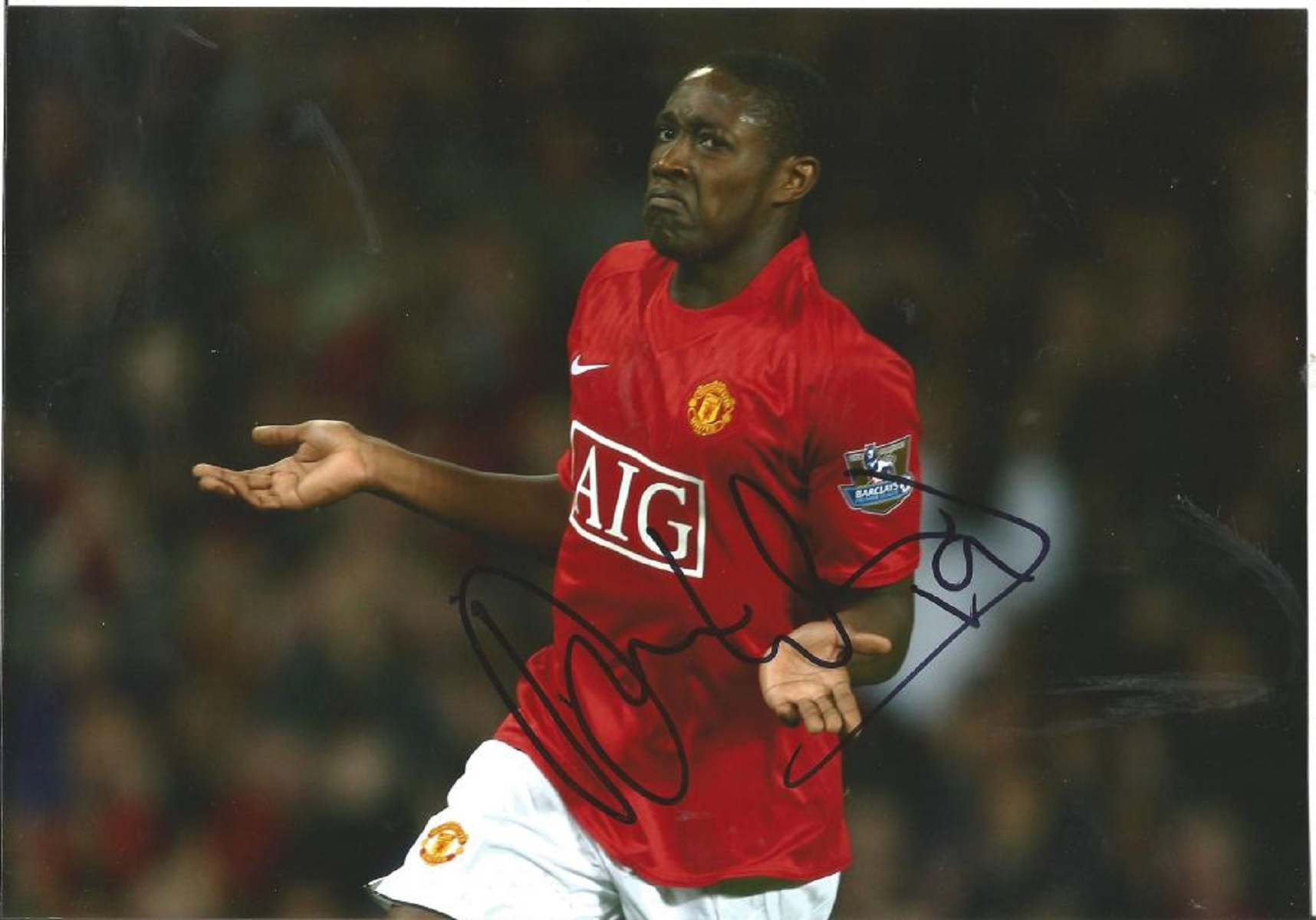 Football Danny Wellbeck signed 12x8 colour photo pictured while playing for Manchester United.