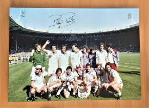 Football, Billy Bonds signed 16x12 colour photograph pictured celebrating with West Ham after