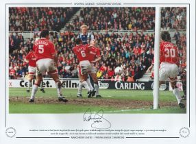 Football. David May Signed 16x12 colour photo. Autographed Editions, Limited Editions. Photo shows