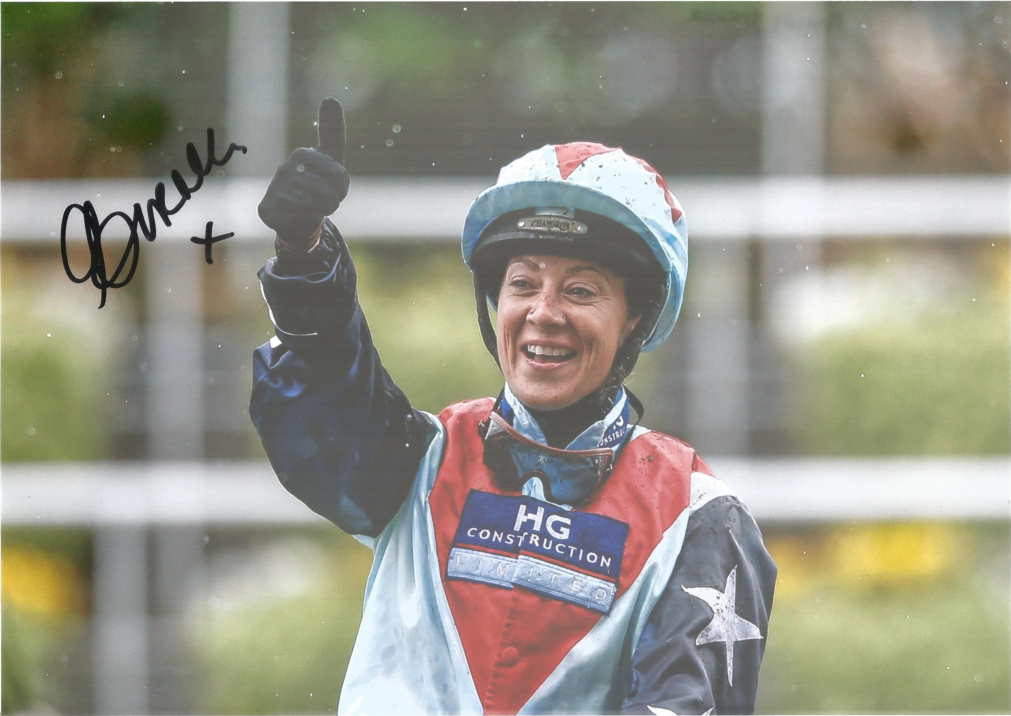 Hayley Turner Signed Horse Racing Jockey 8x12 Photo. Good condition. All autographs come with a