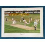 Bob Willis signed 22x16 Great Sporting Moments Big Blue Tube colour print. Bob Willis takes 8
