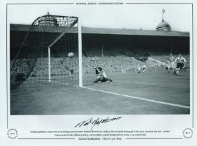 Football. Nat Lofthouse Signed 12x12 black and white photo. Autographed Editions, Limited