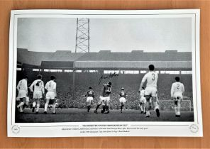 Football, John Aston signed 12x18 black and white photograph pictured as Manchester united