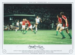 Football. Trevor Brooking Signed 16x12 colour photo. Autographed editions, Limited edition. Photo