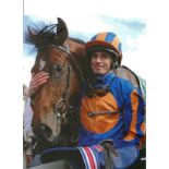 Ryan Moore Signed Horse Racing Jockey 8x10 Photo. Good condition. All autographs come with a