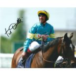 Frankie Dettori Signed Horse Racing Jockey 8x10 Photo. Good condition. All autographs come with a